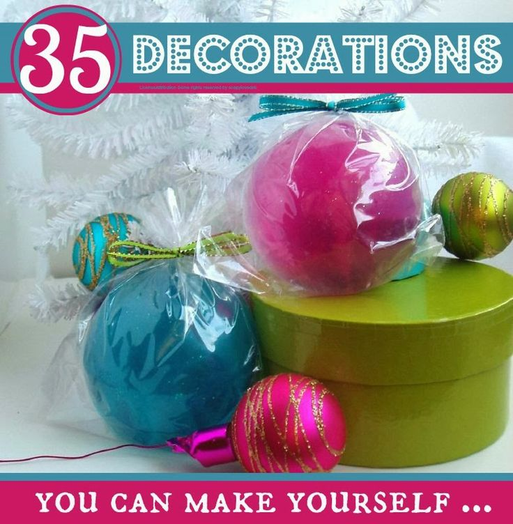 35 lovely Christmas decorations you can make yourself @Mums make lists ...