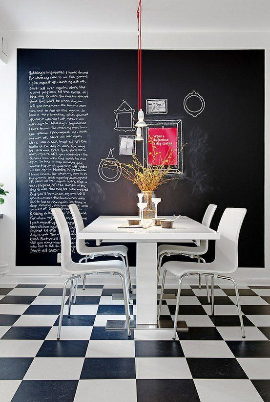 Dreaming of a chalkboard wall in my kitchen right now