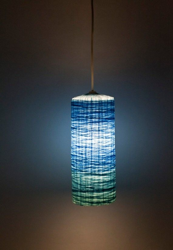 Pendant Lamp Ombre Handmade Lampshade Hanging By FiligreeCreations Idea    Make Using The DIY String Lamp