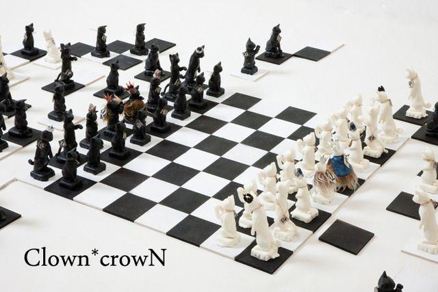 ♕再販♕ Cat Chess 猫チェス オブジェ -queen-