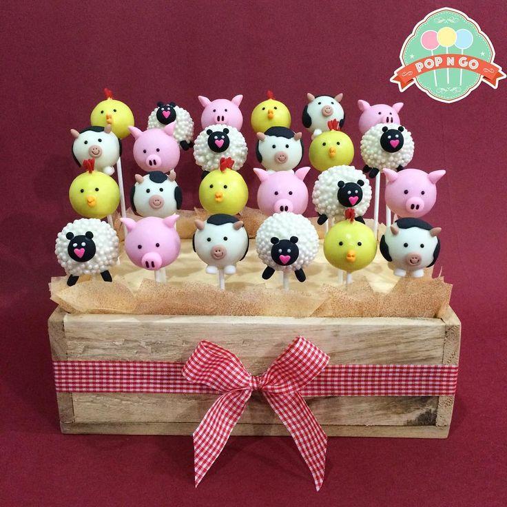 Farm animals cake pops