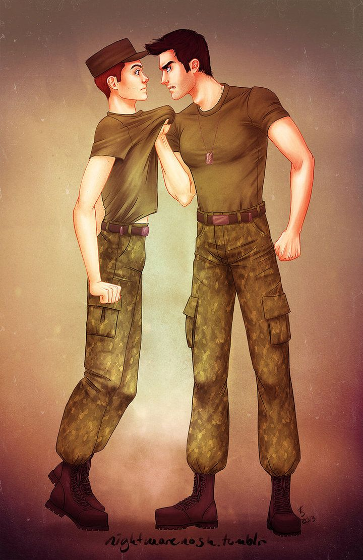Sterek military AU by trasigpenna on DeviantArt | Stiles ...