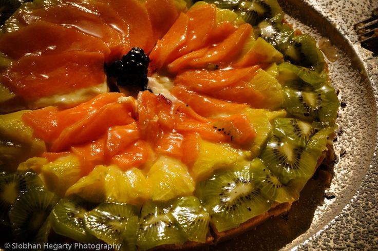 mouthwatering fruit flan Rome wedding.