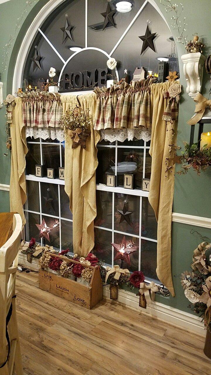 Rustic kitchen window decor   best prim home images on pinterest  primitive decor primitive