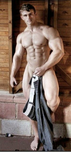 Naked male fitness trainers