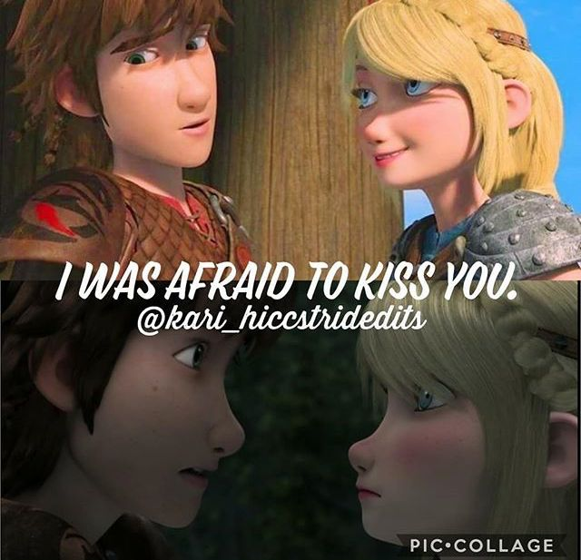Afraid To Kiss You How Train Your Dragon How To Train Your Dragon Hiccup And Astrid