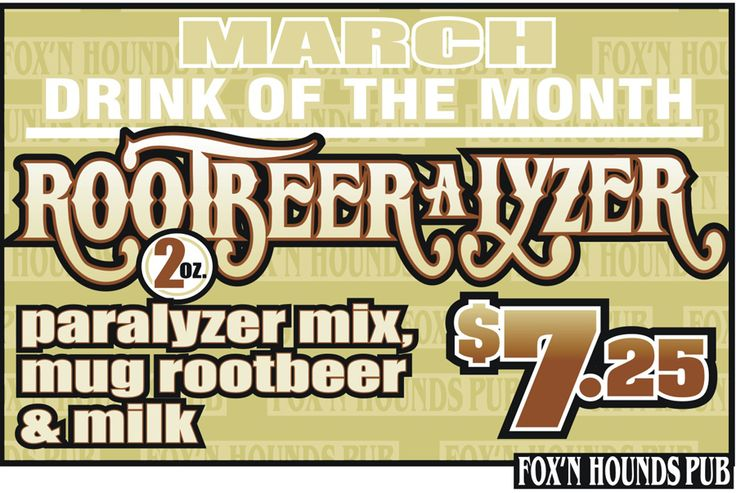 March drink feature!