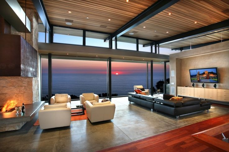 Panoramic Ocean View Modern Living Room : Modern Living Rooms With Wonderful Views | Living Room Designs, Contemporary Decor
