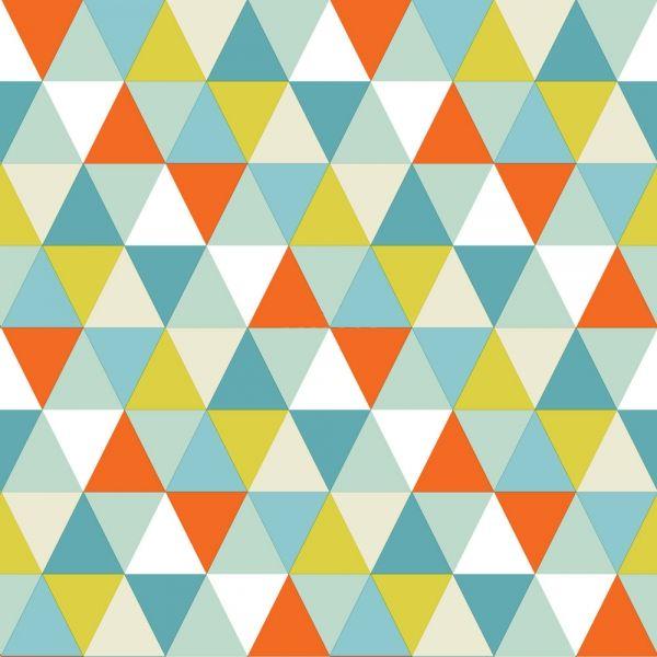 Färgglad tapet med geometriskt mönster från kollektionen Everybody Bonjour 138708. Klicka för att se fler inspirerande tapeter för ditt hem!
