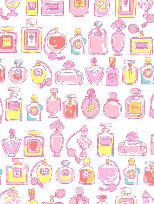 X and Backgrounds inches Lilly   Lilly Charm Pulitzer  coffee    Bottle Sateen    fabric Cotton Pulitzer Perfume Southern Spritz Twitter shirts