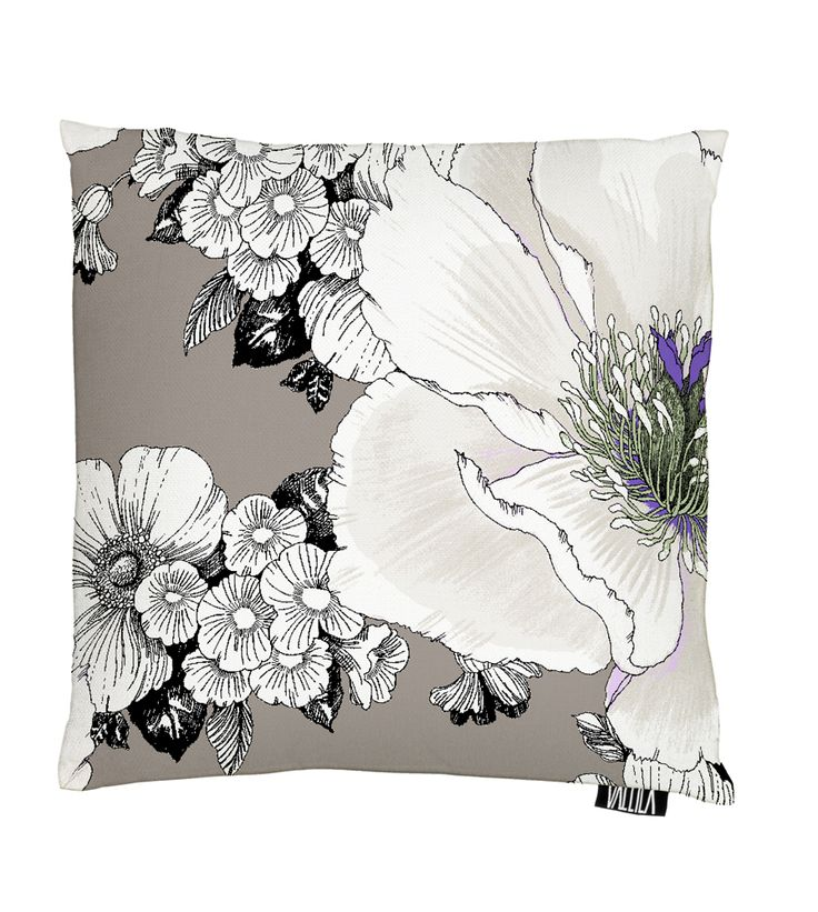 Vallila Interior AW14, Amanda cushion cover 43x43cm brown by Tanja Orsjoki
