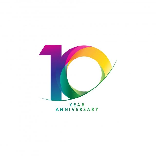 10 Year Anniversary Vector Template Design Illustration 10