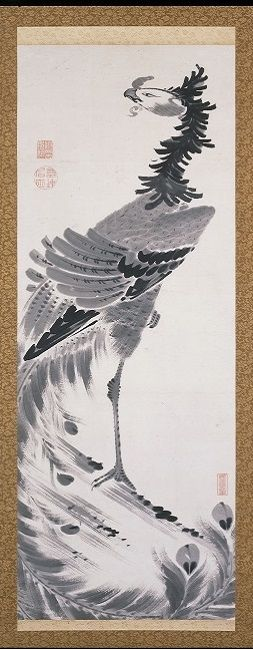 Phoenix scroll. Jakuchu Itō.若冲ゆかりの地で「動植綵絵30幅」複製を一堂に 承天閣美術館 - 写真特集 - 朝日新聞デジタル&TRAVEL「京都非公開文化財特別公開」