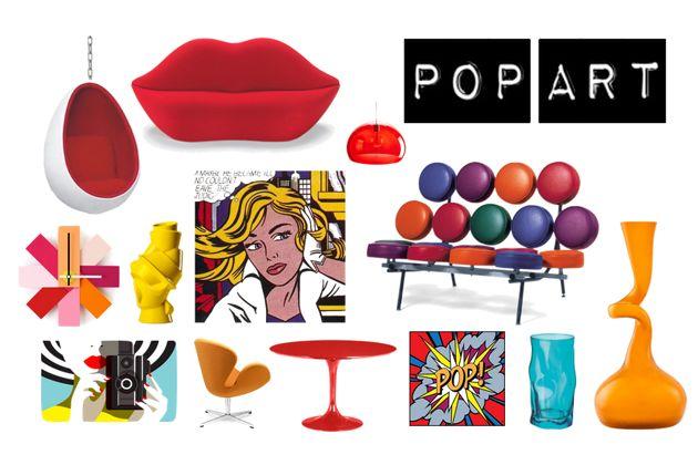 Accesorios para una decoración al estilo pop art