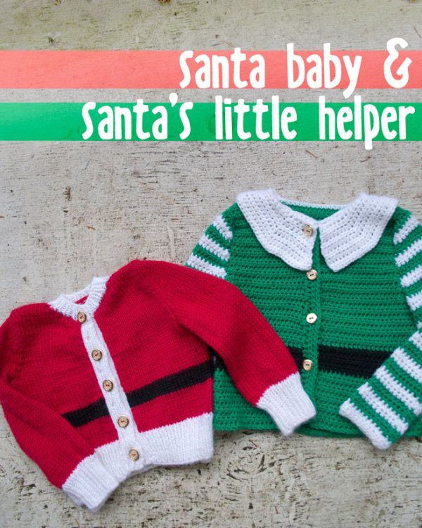 Free Christmas baby sweater patterns for knit & crochet from 100 Baby Sweater Patterns
