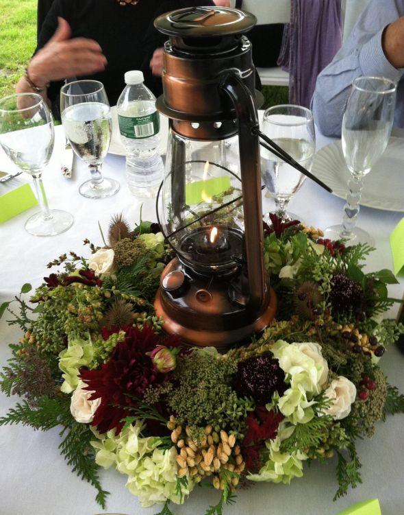hurricane lamps weddings | Wedding Flowers: hurricane lamps wedding centerpiece with flowers