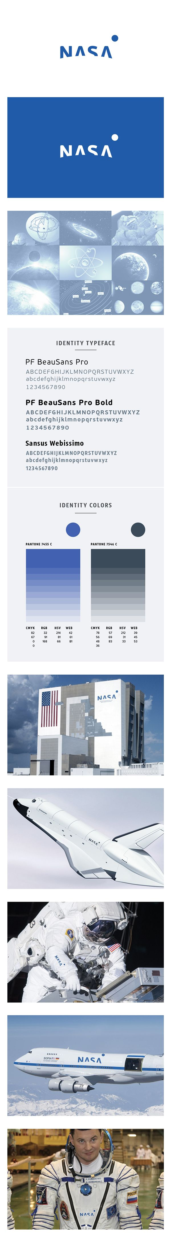 NASA branding - love this. So simple but clever use of negative space. #logo #branding #design #negativespace #space