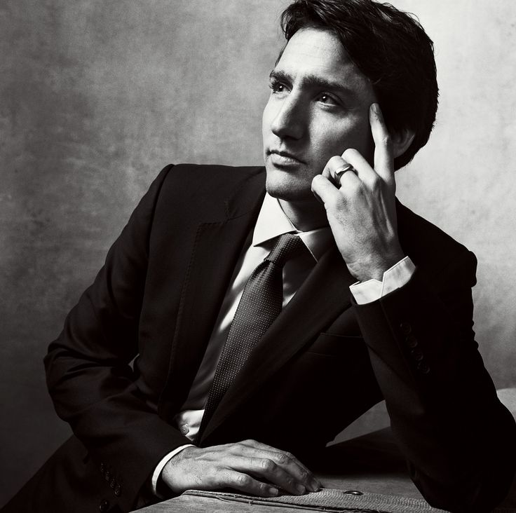 Canada's new prime minister, 43, photographed in Ottawa.  Photographed by Norman Jean Roy, Vogue, January 2016.