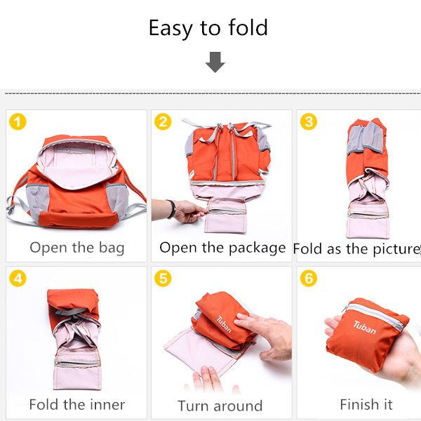 Lightweight Waterproof Foldable Backpack Outdoor Hiking Sports Bags Handbag Clutches