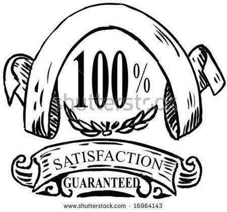 100% satisfaction guaranteed icon  #satisfactionguaranteed #sketch #illustration