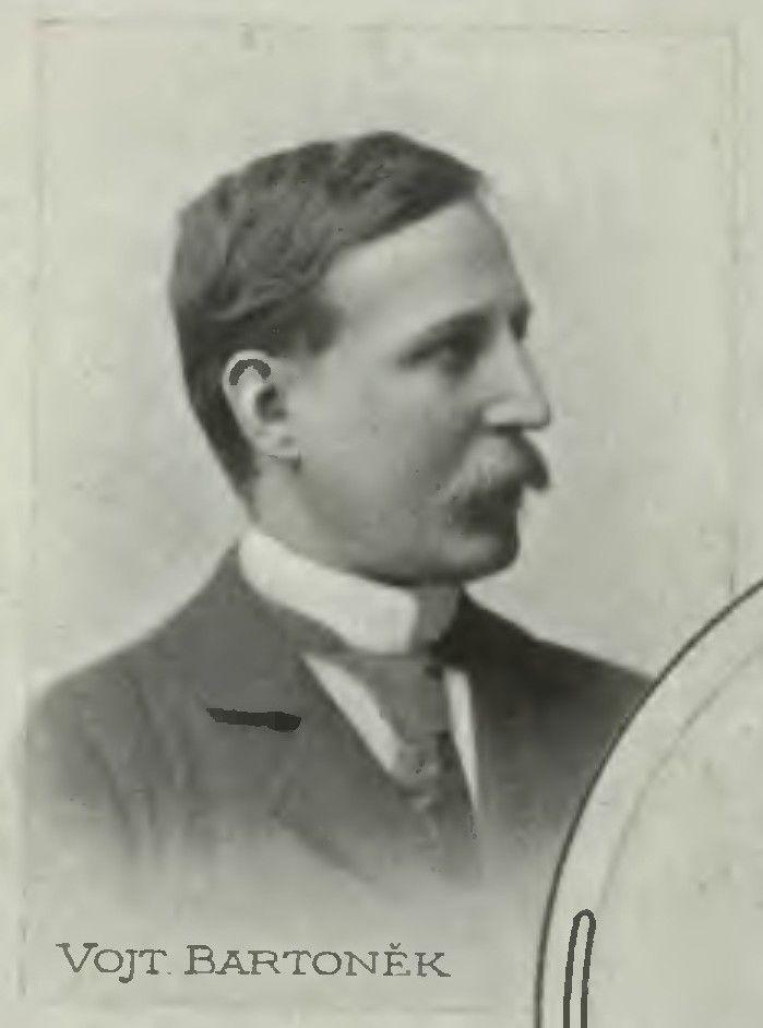 Vojtěch Bartoněk (1859 - 1908)  Studoval na pražské akademii u prof. Swertse, Antonína Lhoty, Maxmiliána Pirnera, Františka Sequense a Františka Čermáka a poté v Paříži na École des Beaux Arts.