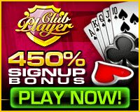 Club Player - Play Video Poker with 450% and no rules bonus code!