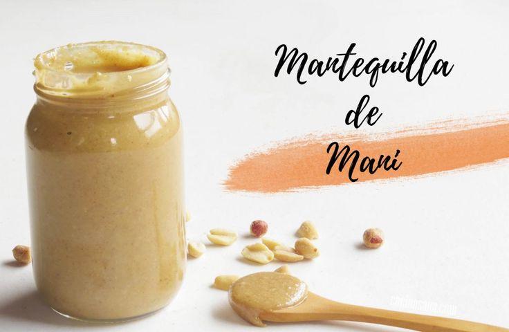 Mantequilla de Maní o Cacahuate Casera on Cocina Sana