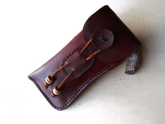 Handmade Leather Eyeglass Case.HAND SEWN & от GritsNHokum на Etsy