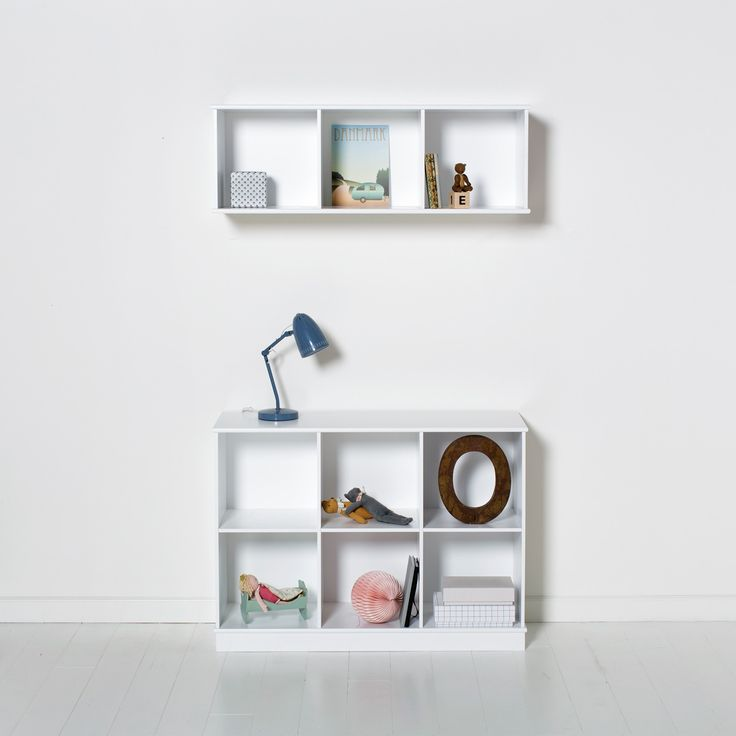 Simple Wood Collection shelving units by Oliver Furniture