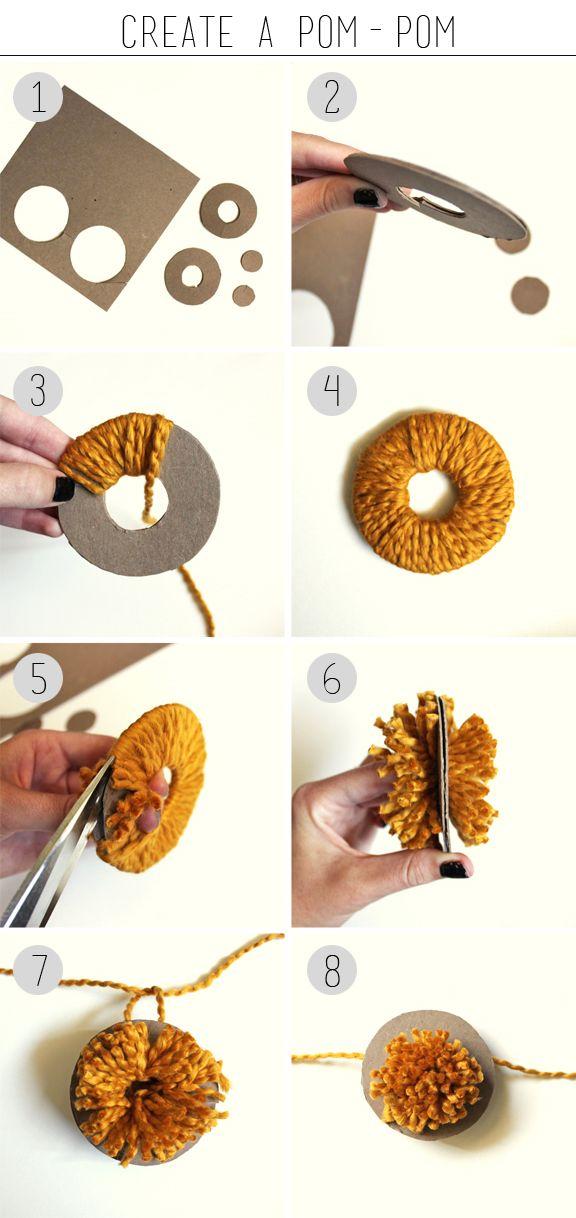 DIY: pom pom sencillo de hacer :D