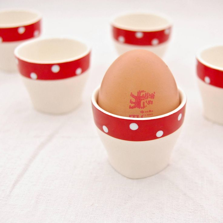 MidCentury Vintage Midwinter 'Red Domino' by Jessie Tait - Egg Cup - Single or Set of 6 by leGrenierLondon on Etsy