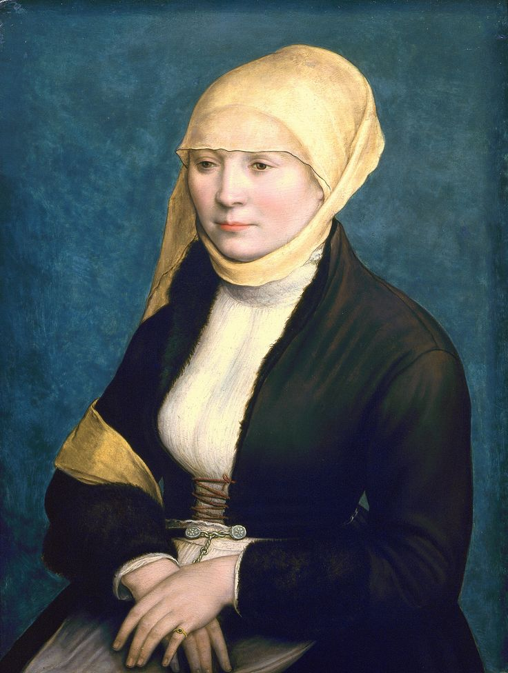 Holbein the Younger, Hans (formerly attributed to) - Portrait of a Woman from Southern Germany c.1520-25 Portrait of the Artist's Wife (?)