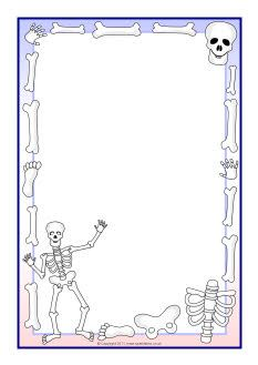 Skeletons A4 page borders