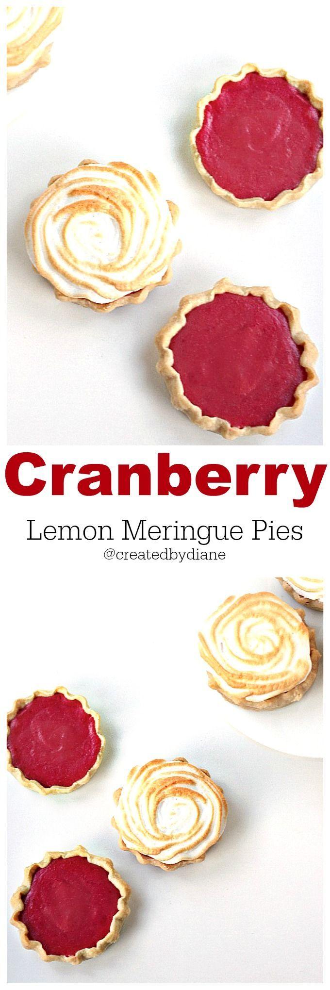 CRANBERRY Lemon Meringue Pies http://www.createdby-diane.com /createdbydiane/