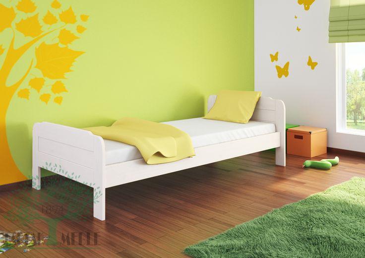 Białe łóżko sosnowe Nova to jedna z najbardziej klasycznych konstrukcji w naszej ofercie. Lakierowana sosna świetnie sprawdzi się zarówno w nowoczesnej stylizacji jak i w bardziej stonowanym wnętrzu. Szeroki zakres rozmiarów pozwala na wybór dostosowanego do potrzeb każdego klienta. #tartakmeble #sosna #łóżko #meble #sklep