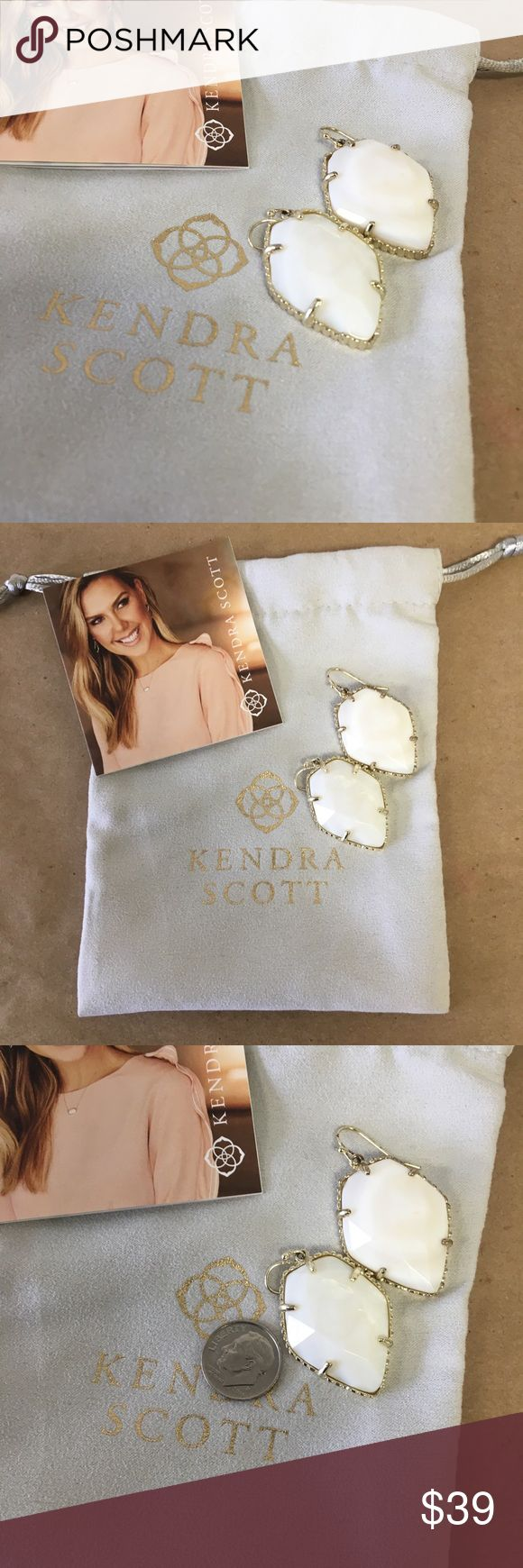 Kendra Scott Earrings in Gold & White! Kendra Scott Earrings in Gold & White! Inventory #  3245-306 Everything we sell is 100% guaranteed authentic! We list dozens of items every day, so check our other listings out! We are Meta Exchange, a resale store in Baton Rouge, LA! Sorry, no trades. REASONABLE offers will be considered. We ship same/next day. Thanks! Follow us: FB metaexchange  IG meta225 Kendra Scott Jewelry Earrings