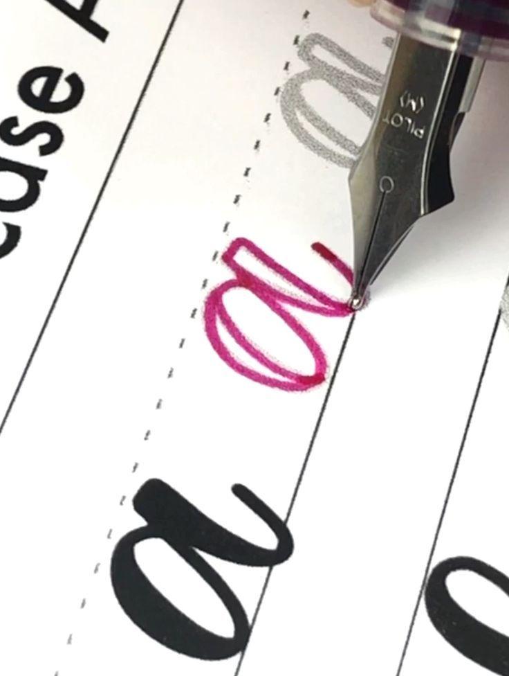 Faux Kalligraphie Arbeitsblätter – #WorksheetBusi…
