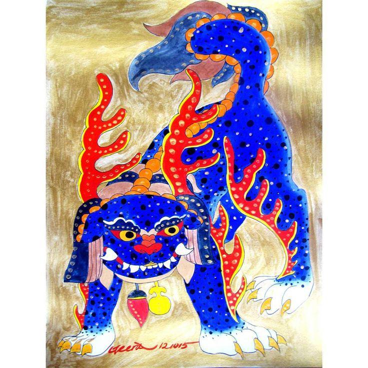 """HaeChi, HaeTae! 해치, 해태. 해치가 해님이 보낸 벼슬아치의 줄임말이라길래 귀여워서 기절하는 중.  #Seoul #Korea #koreantraditionalart #koreanfolkart #Koreanart #Haechi #Haetae #art #artwork…"""