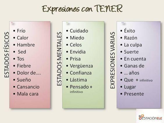 64c30e4f64e585de59670f0923e384ce spanish classroom teaching spanish 11 best tener (expressions) images on pinterest spanish classroom