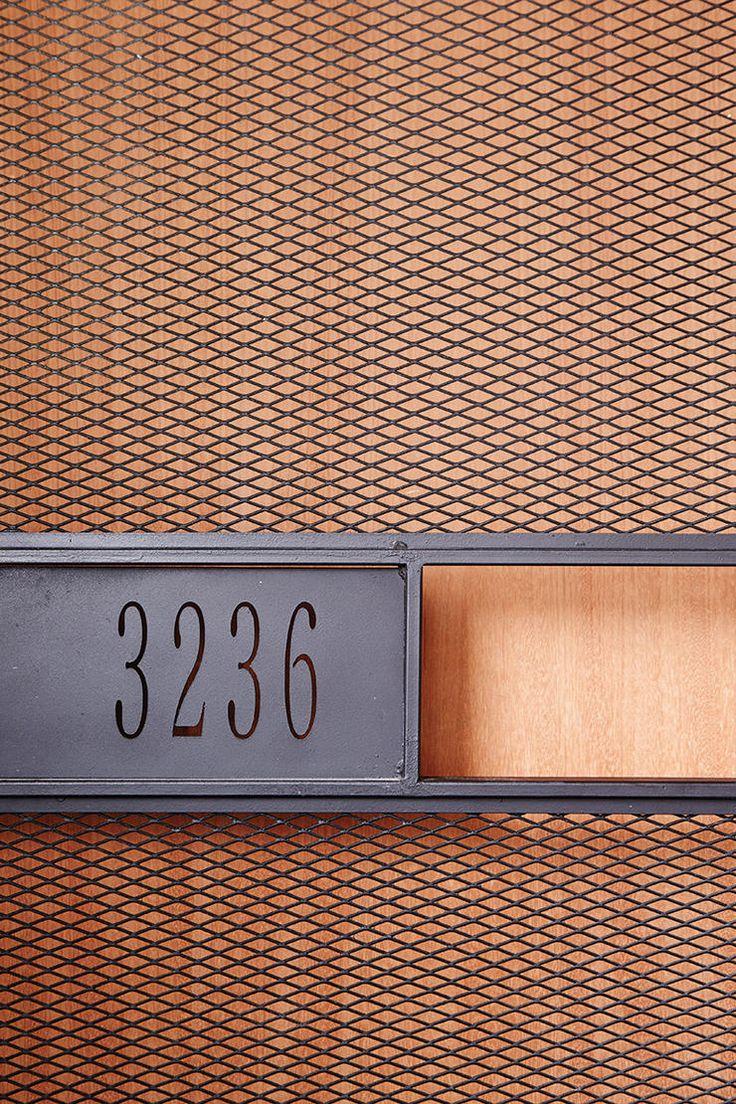 Graphic signage #numeral #mesh #graphic