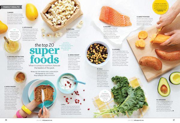 Today's Parent Magazine - Food & Health on Behance