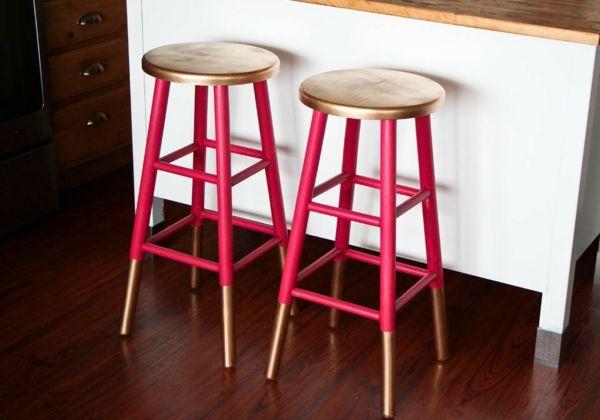 rosa gold Barhocker neu streichen Design Ideen/ very nice makeover of otherwise boring stools