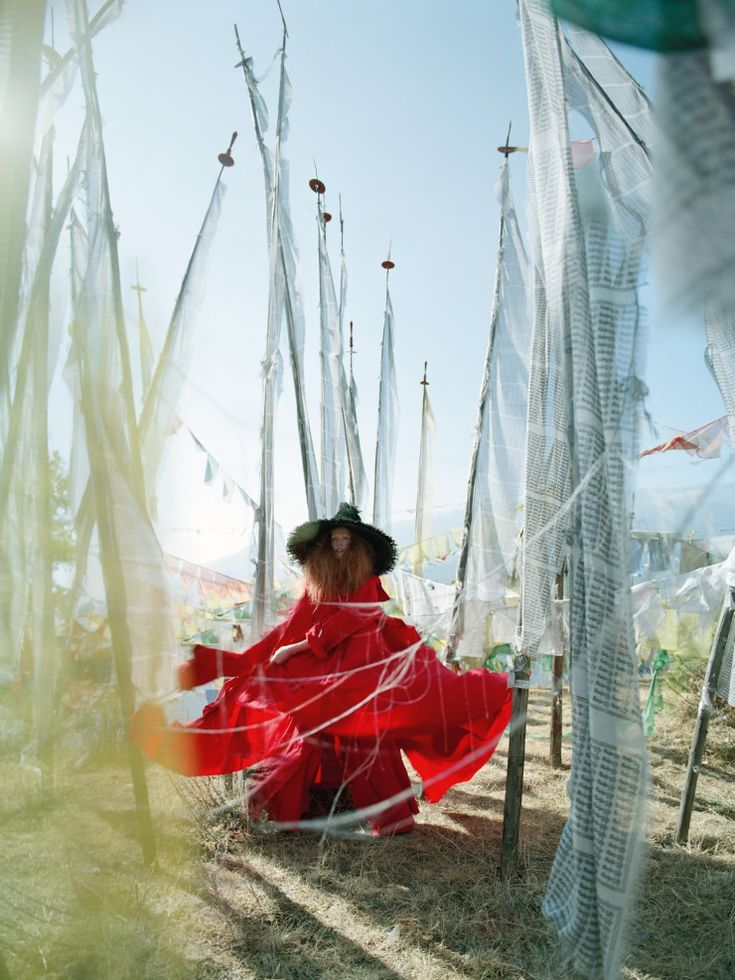 "Karen Elson in ""In the Land Of Dreamy Dreams"" by Tim Walker for Vogue UK May 2015"