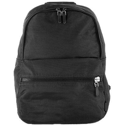 Cooler schwarzer Rucksack von Casual. Er hat einen schlichten Look und als optisches Highlight Lederbesätze. -  ab 39,99 €