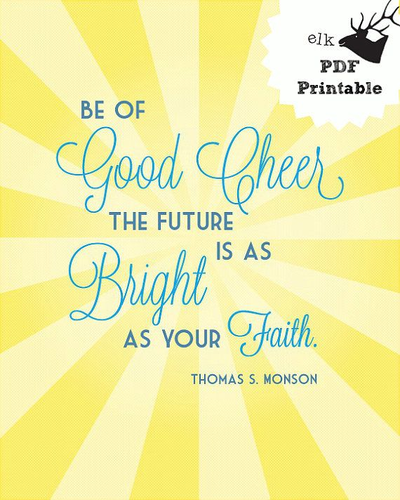 Good Cheer Adoption Fundraiser Printable Monson Quote 8x10 PDF Digital Download