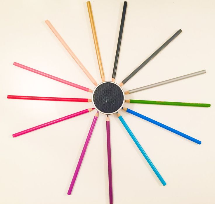Pencil colour wheel Blue Piston Speaker — Thinking Out Loud Blue Piston Header - LOGiX #Speaker #Tech #BluePiston #GiftGuide #Holidays #Christmas #RosaliPeccia