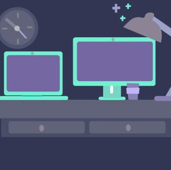 Flat Design, Macbook, Desktop, Adobe Illustrator