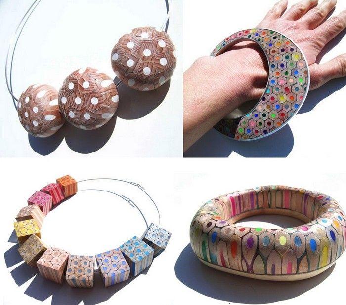Bright decorations and accessories of pencils from Maria Cristina Bellucci