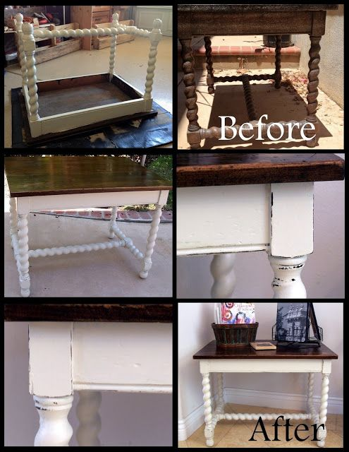 Thift Store Table Facelift I have a similar table waiting to turn out this good!