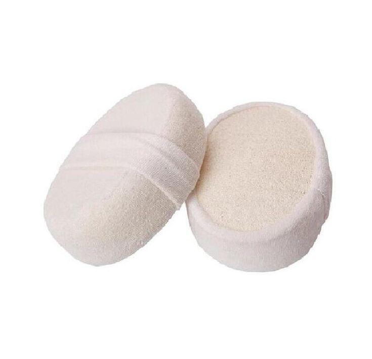 Soft Fresh Natural Loofah Sponge Shower Spa Body Scrubber Exfoliator  Bathing Massage Brush Pad . FH-10026